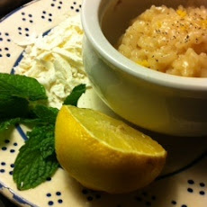 Lemon Risotto with Mint and Ricotta Salata