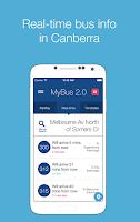 Screenshot of MyBus 2.0 Canberra