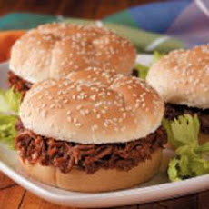 Shredded Venison Sandwiches