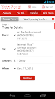 Screenshot of PC Financial Mobile Banking