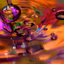 Color Extravaganza by Janet Lyle - Abstract Water Drops & Splashes ( water, colors, droplets )