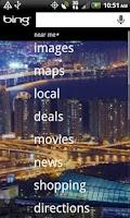 Screenshot of Bing on VZW
