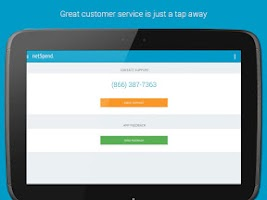 Screenshot of NetSpend Mobile Banking