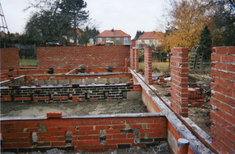House extension building site East London Architect