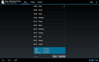 Screenshot of Meniny a mená