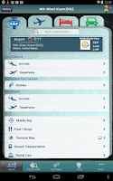 Screenshot of Miami Airport + Flight Tracker