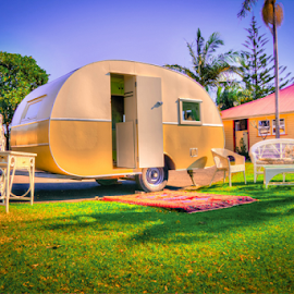 Home away from Home by Petra Bensted - Transportation Other ( home, queensland, caravan, vintage, retro, living )