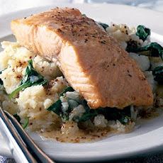 Salmon With Mustardy Celeriac Mash