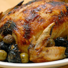 Roasted Chicken With Olives and Prunes (Chicken Marbella)