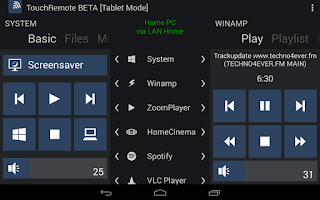 Screenshot of TouchRemote BETA