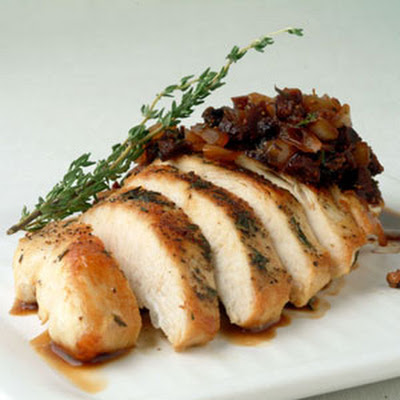 Chicken with Balsamic-Fig Sauce