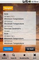 Screenshot of World Weather