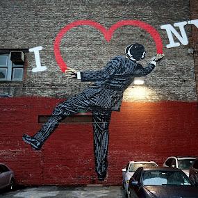 I Love NY by VAM Photography - City,  Street & Park  Street Scenes ( graffiti, art, places, nyc, street photography,  )
