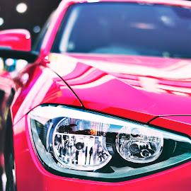 Sexy Lights by Sounak Mukherjee - Transportation Automobiles ( automobiles, lights, sexy, red, cars, cisco, festival, car show )