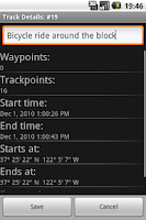 Screenshot of OSMTracker for Android™