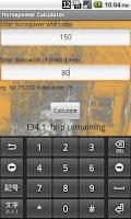 Screenshot of Horsepower Calculator
