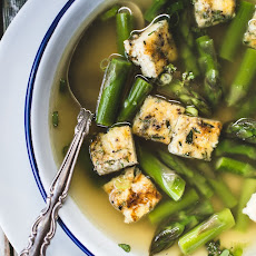 Asparagus Soup with Frittata Bites