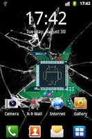Screenshot of Broken glass lite wallpaper