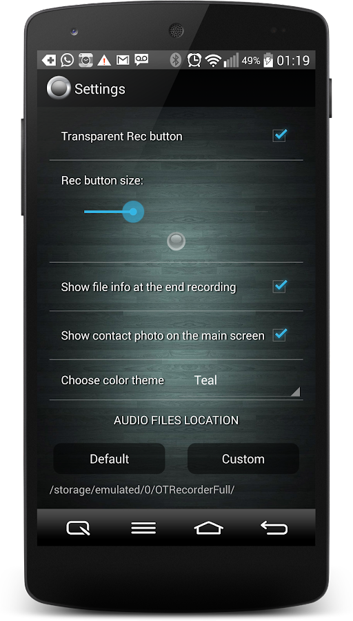 Call Recorder One Touch Full Screenshot 4