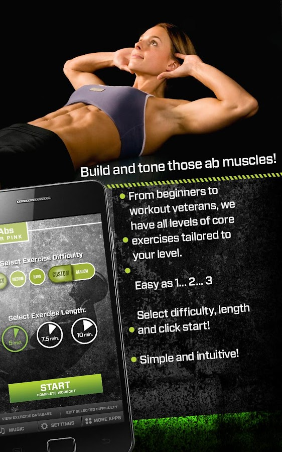 Abs Trainer  -Get 6 Pack Abs Screenshot