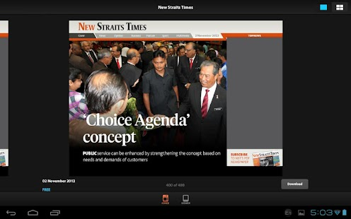 New Straits Times for Tablet - screenshot