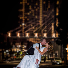 Epic Kiss by Robby Ticknor - Wedding Bride & Groom ( kiss, wedding )