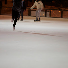 skate ground by Delei Zheng - Sports & Fitness Fitness ( shoes, ice, night, fast, people )