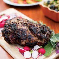 Grilled Leg of Lamb with Yogurt-Mint Sauce