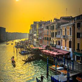 Venezia by Murat Besbudak - City,  Street & Park  Street Scenes ( italia, venezia gran canal )