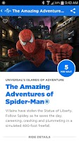 Screenshot of Universal Orlando® Resort App