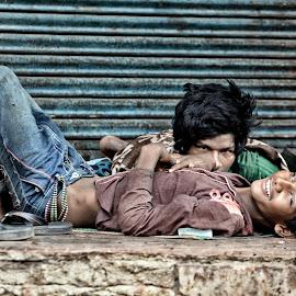 Street Peopel  by Raja Awasthi - City,  Street & Park  Street Scenes