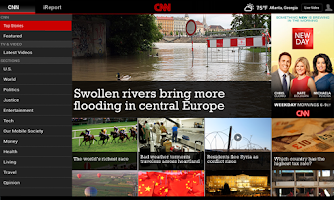 Screenshot of CNN App for Android Tablet