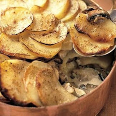 Potato and Portobello Mushroom Gratin