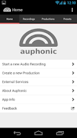 Screenshot of Auphonic Audio Recorder
