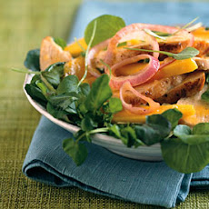Chicken and Mango Salad with Ginger-Orange Dressing