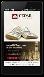 Cedar finance binary options