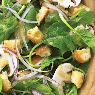 Spinach, Mushroom, and Red-Onion Salad
