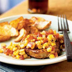 Smoked Paprika Pork Chops with Bell Pepper and Corn Relish