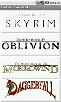Screenshot of The Elder Scrolls Books