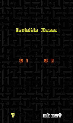 Invisible Mazes