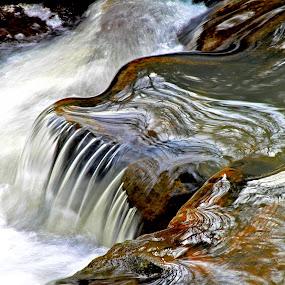 The Caramel Falls by Todd Klingler - Nature Up Close Water ( water, stream, creek, waterfall, river,  )