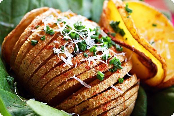 Parmesan Hasselback Baked Potatoes Recipe | Yummly
