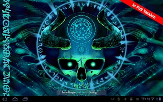 Screenshot of Mystical Skull Free Wallpaper