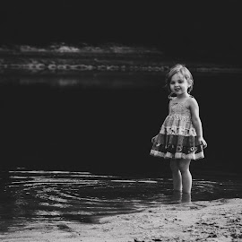 River Day by Stephanie Stafford - Babies & Children Toddlers ( black and white, children, river )