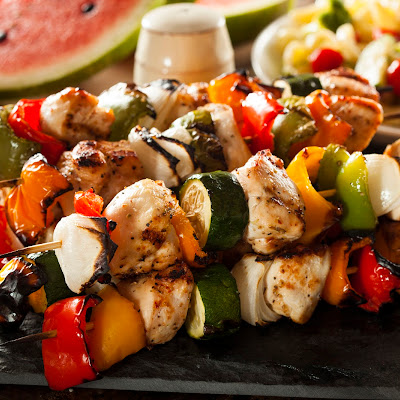 Honey-Marinated Chicken Kebabs