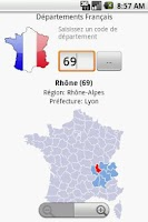 Screenshot of French Departments