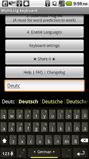 German Keyboard plugin