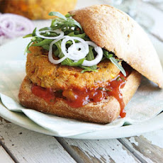Sweetcorn & Sweet Potato Burgers