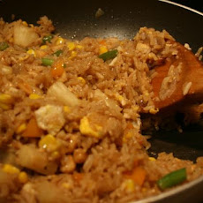 Pineapple Fried Rice from Cooked (Leftover) Rice and Chicken
