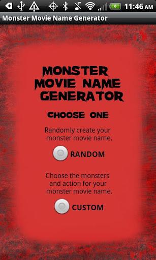 Monster Movie Name Generator